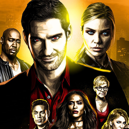 Lucifer, Tom Ellis, Hot As Hell, Lauren German, Brian C. Roll, Odyssey Art, thumbnail