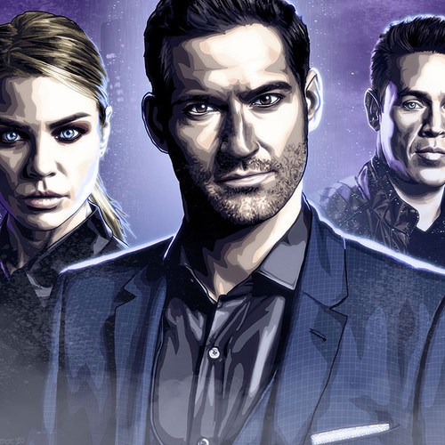 Lucifer, LAPD, Tom Ellis, The Devil, Lucifer Morningstar, Brian C. Roll, Odyssey Art, thumbnail