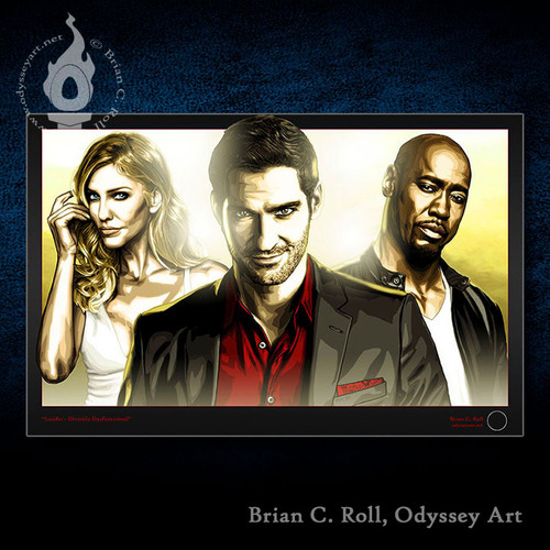 Lucifer, Divinely Dysfunctional, Tom Ellis, Brian C. Roll, Odyssey Art