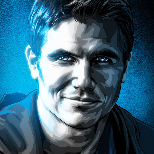 Black & White & Blue, BWB, Robbie Amell, Code 8, Firestorm, Brian C. Roll, Odyssey Art, thumbnail