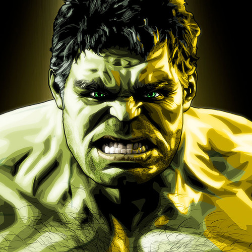 Mark Ruffalo as The Hulk from The Avengers, Brian C. Roll, Odyssey Art, thbnail