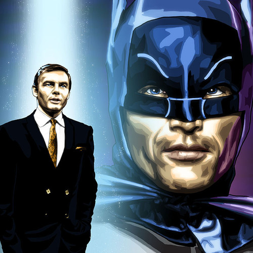 Adam West is Bruce Wayne and Batman. Brian C. Roll, Odyssey Art, thbnail
