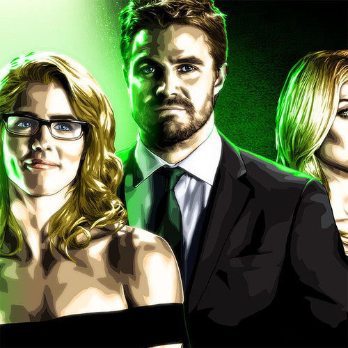 The Queen Family, Oliver Queen, Felicity Smoak, William Clayton, Mia Smoak, Brian C. Roll, Odyssey Art, thbnail