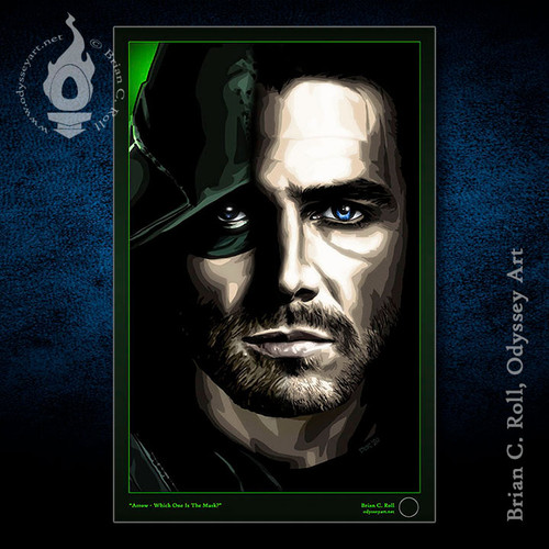 Arrow, Which One is the Mask?, Stephen Amell, Oliver Queen, Green Arrow, Brian C. Roll, Odyssey Art