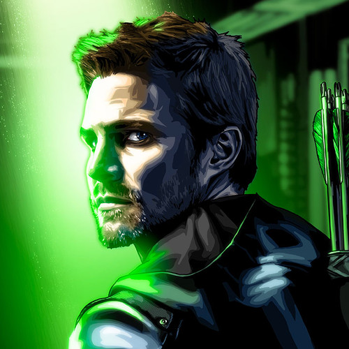 Arrow 12x18 Canvas Print, Stephen Amell, Oliver Queen, Brian C. Roll, Odyssey Art, thbnail