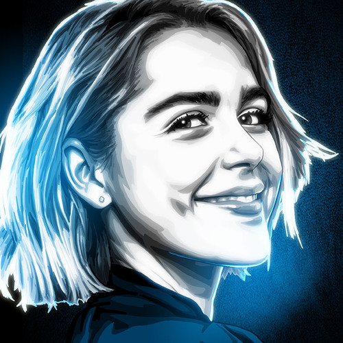 Kiernan Shipka, Black & White & Blue, Sabrina, Chilling Adventures of Sabrina, BWB, Brian C. Roll, Odyssey Art, thbnail