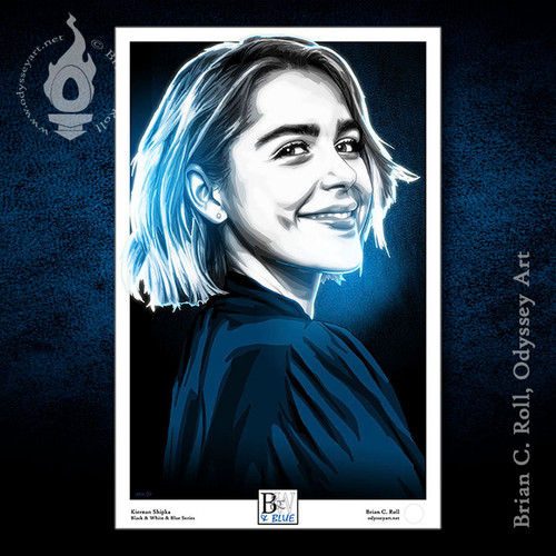 Black & White & Blue: Kiernan Shipka