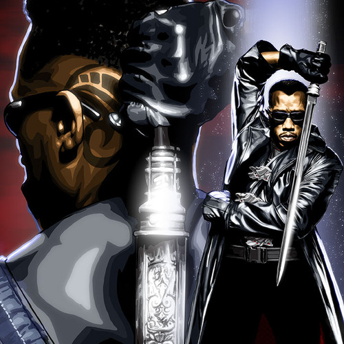 Blade, Wesley Snipes, Eric Brooks, Brian C. Roll, Odyssey Art, thbnail