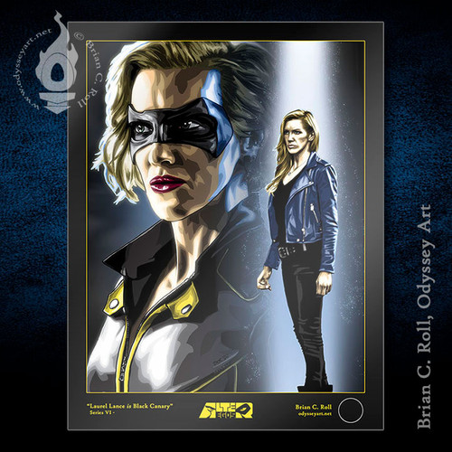 Black Canary, Earth-2 Laurel Lance, Katie Cassidy, Brian C. Roll, Odyssey Art