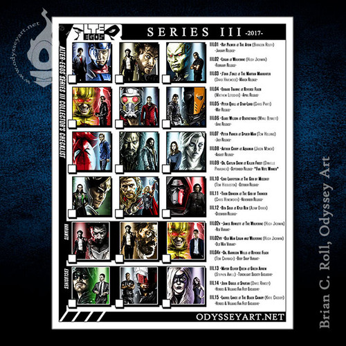 Alter-Egos Series 3, download, print, checklist