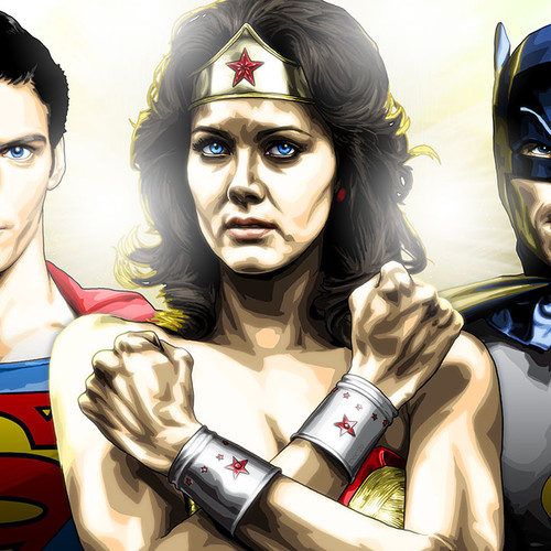 Trinity, Superman, Wonder  Woman, Batman, Reeve, Carter, West, Brian C. Roll, Odyssey Art, thbnail