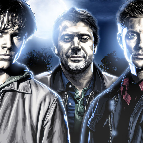 Supernatural art, Those Winchester Boys, Dean, Sam and John, Brian C. Roll, Odyssey Art, thbnail
