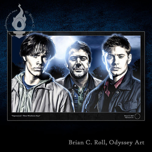 Supernatural art, Those Winchester Boys, Dean, Sam and John, Brian C. Roll, Odyssey Art