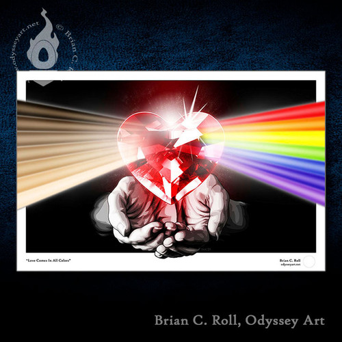 Art for charity, Love is Love, LGBTQ, equal rights, BLM, Black Lives Matter, ACLU, Brian C. Roll, Odyssey Art