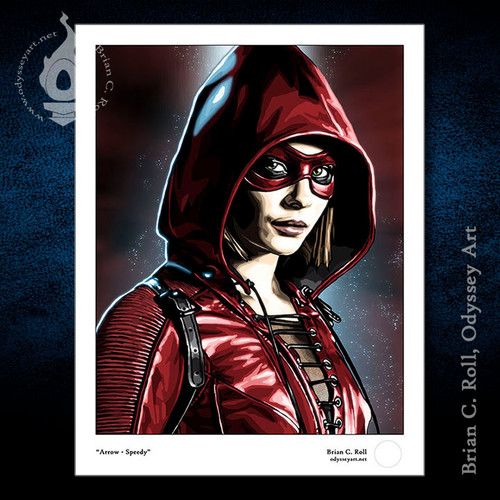 Arrow, Speedy, Thea Queen, Willa Holland, Brian C. Roll, Odyssey Art