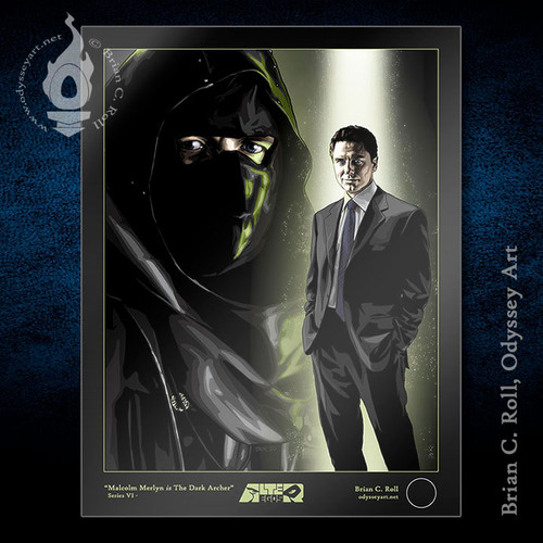 The Dark Archer, Malcolm Merlyn 8.5x11 Alter-Ego, John Barrowman, Arrow, Brian C. Roll, Odyssey Art