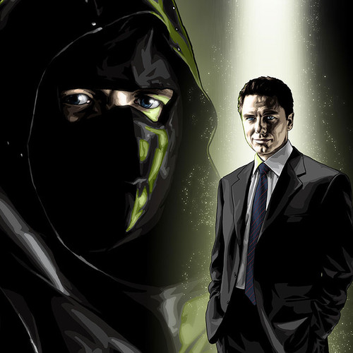 The Dark Archer, Malcolm Merlyn 8.5x11 Alter-Ego, John Barrowman, Arrow, Brian C. Roll, Odyssey Art, thbnail