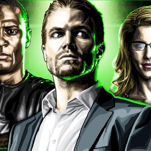 "Arrow: City of Heroes Unmasked, 17""x5.5"" cast print, Brian C. Roll, Odyssey Art, thbnail"
