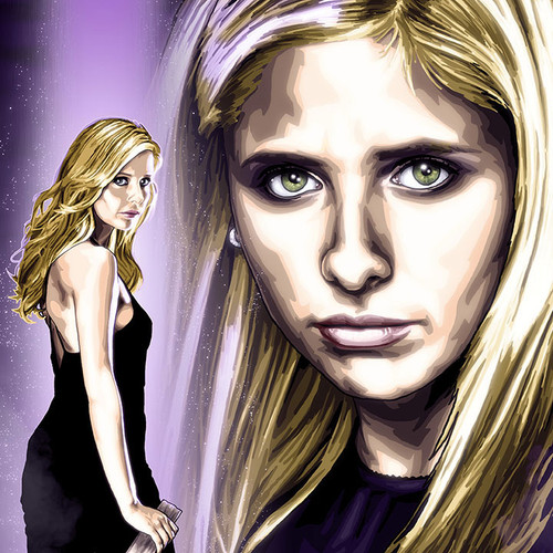 Buffy Summers is The Slayer, vampire slayer, Sarah Michelle Gellar, Brian C. Roll, Odyssey Art, thbnail