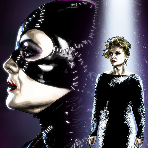 "Catwoman art 8.5""x11"" print, Batman Returns, Brian C. Roll, Odyssey Art, thbnail"