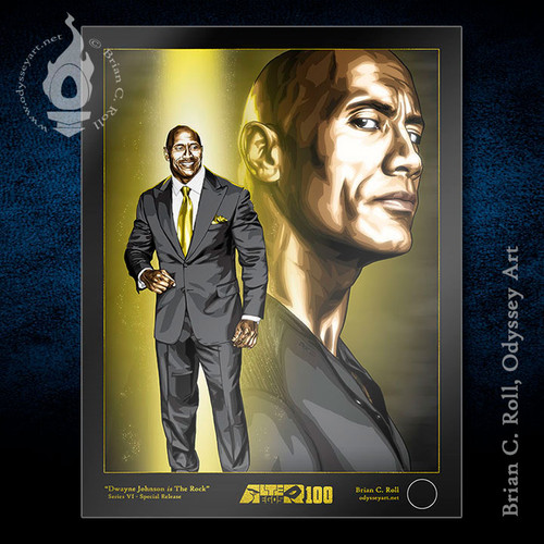 "Dwayne Johnson is The Rock, 8.5""x11"" print, Brian C. Roll, Odyssey Art"