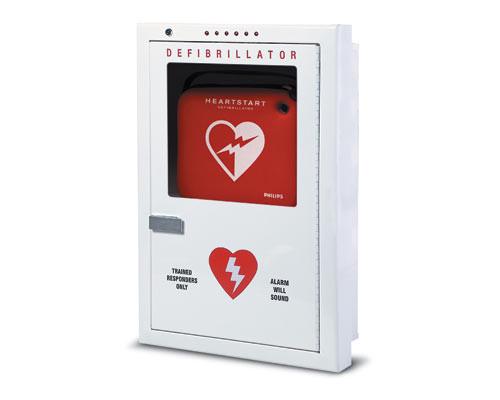 Philips Premium AED Cabinet - Semi-Recessed Mount PFE7023D