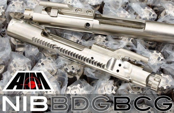 2 AIM Nickel Boron BCGs .223 / 5.56 MPI 9310 M16 Profile Bolt Carrier Group
