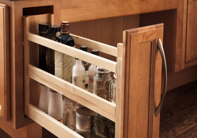 Base cabinet featuring pantry pull-out