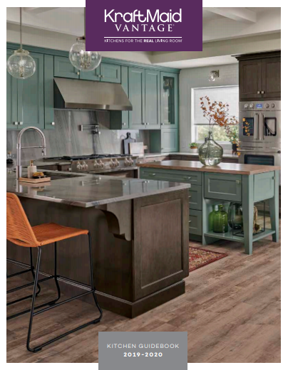 Cover of 2019-2020 KraftMaid Kitchen Guidebook brochure
