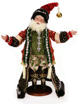 This Santa is two feet tall. Zoom in and check out the fabric, too... wowza!