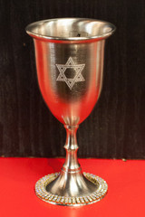 Pewter and Crystal Kiddush Cup