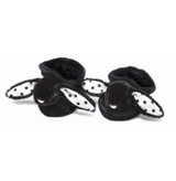 Great fuzzy black and white slippers for a baby. We love Jellycat at Ab Fab.