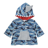 Camo Shark Print Hooded Sweater