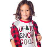 """Christmas Shirt for Kids, """"Up to Snow Good,"""" modeled so wonderfully by Benicio"""