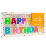 """These LED """"Happy Birthday"""" are a great addition to your kids birthday decorations."""