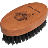 Seven Potions Firm Boar Bristles Beard Brush with Oval Pear Wood