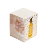 """Stemless Wine Glass """"Happy Birthday"""", Holds Full Bottle"""