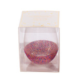 Fun Confetti Stemless Wine Glass, Holds Full Bottle