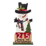 Snowman Christmas Countdown, 16.5 in Wood