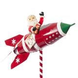 """Mark Roberts Rocket Ship Santa, 17.5"""""""