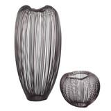 Large Set of 2 Metallic Geyser Vases