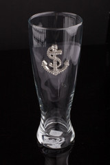 Pilsner Glass with Crystal Anchor