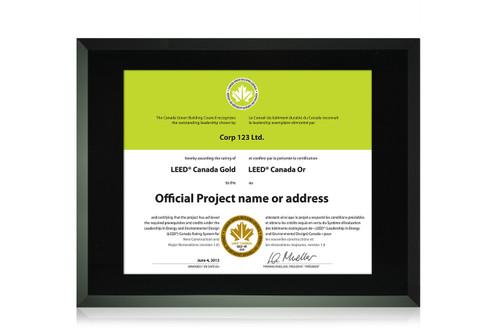 Black Glass Certificate Frame