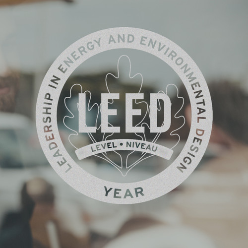 LEED Decal - free promotion within Canada