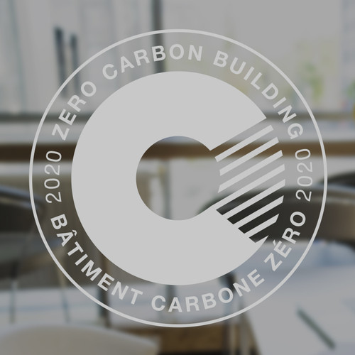 Zero Carbon Decal - frosted vinyl | Canada