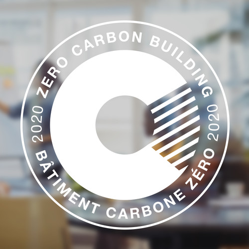 Zero Carbon Decal - white vinyl | Canada