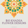 $10 Khadija Flower Henna Designs