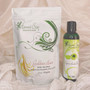 Using Amla Oil with Goddess Hair for Wash Day. Use 1 package of Goddess Hair for shoulder length hair and add 2-3 tbsp of amla oil and apply onto damp hair strands.