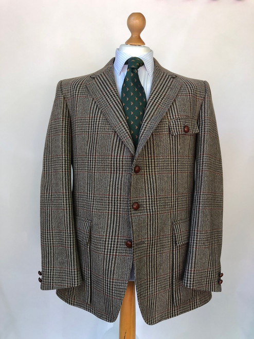 Half-Norfolk style shooting coat by Bladen, 44 Long (VGR29)