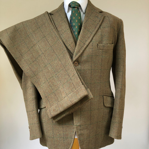 Vintage (1977) three-piece suit by AE Hayne & Sons